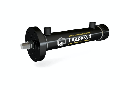 Threaded Hydraulic Cylinder with Round Head Flange