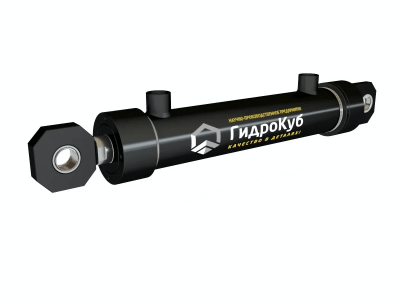 Threaded Hydraulic Cylinder with Eyes and Spherical Bearings