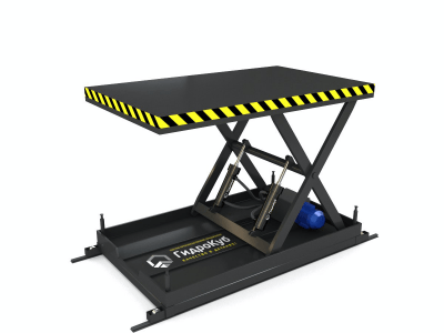 Подъемный стол на рельсовой базе