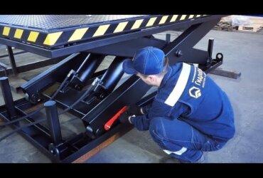 Three-Scissor Lift Table for Warehouse