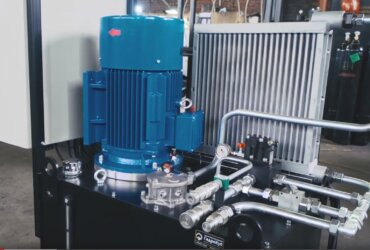 The combined hydraulic power pack is designed to operate a mobile cryogenic LNG system