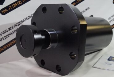 Hydraulic cylinder with front flange