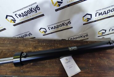 Welded hydraulic cylinder with lifting eye bolts and swivel bearings