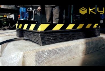 Scissor Lift with Protective Corrugated Tube