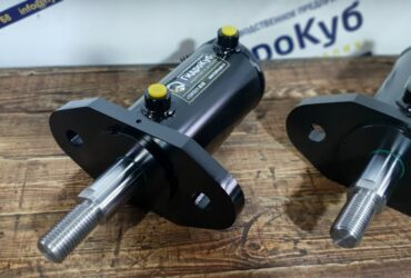 Hydraulic cylinder with front flange, stroke 215