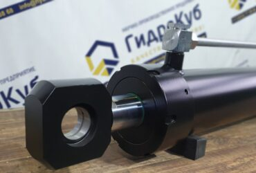 Hydraulic cylinder with distribution plate, stroke 785