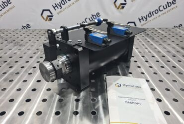Hydraulic cylinder with limit switches, stroke 80