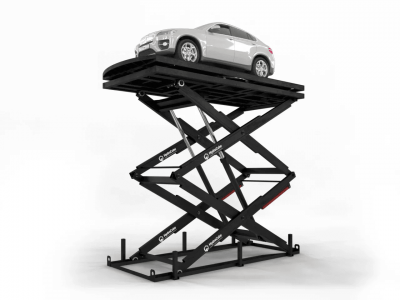 Car Scissor Lift with Rotating Platform