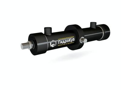 Threaded Hydraulic Cylinder with Intermediate Trunnion Mounting