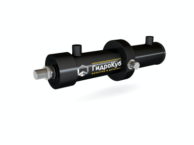 Welded Hydraulic Cylinder with Intermediate Trunnion Mounting